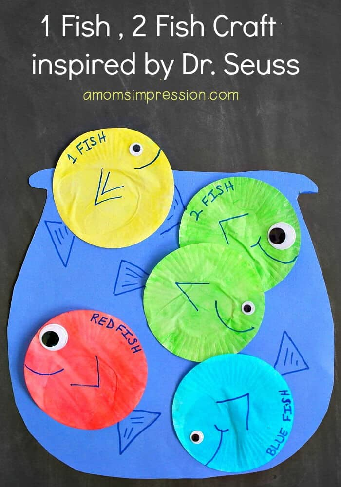 1 Fish 2 Fish Craft by A Moms Impression