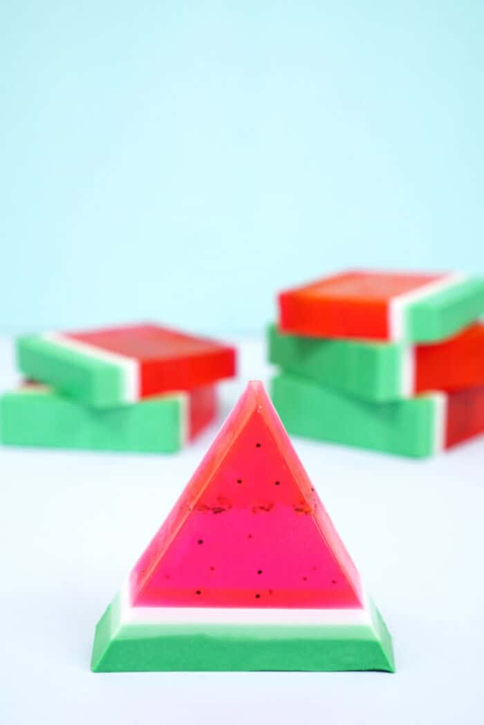 15-Minute DIY Watermelon Soap by Happiness Is Homemade