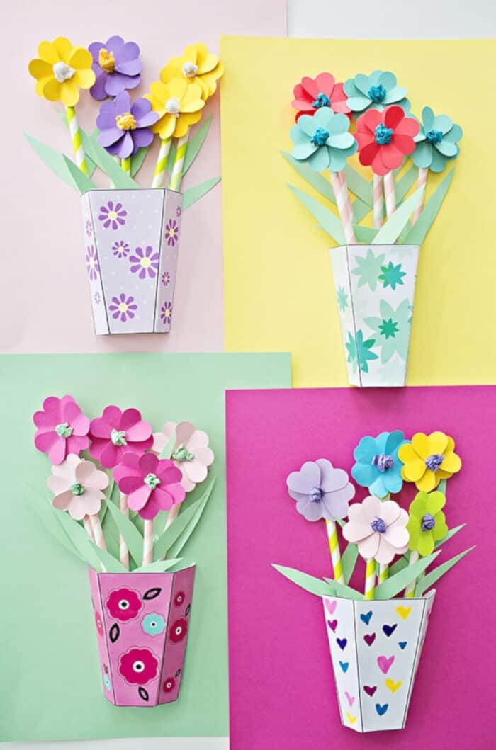 3D Paper Flower Bouquets by Hello Wonderful