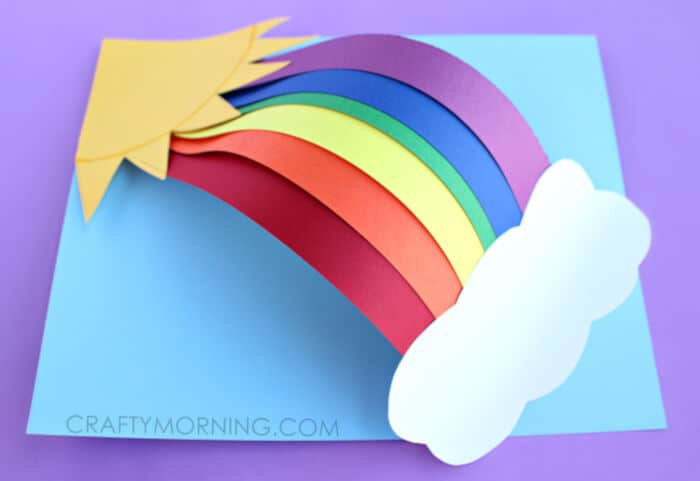 3D Paper Rainbow Kids Craft by Crafty Morning