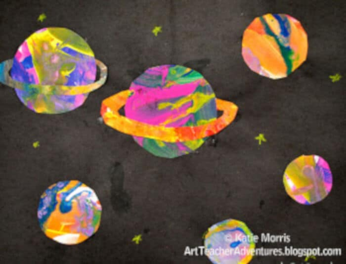 6th Grade Planets by Adventures of an Art Teacher