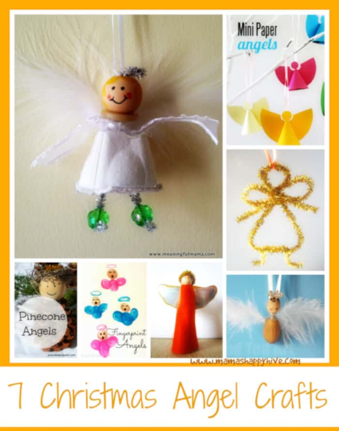 7 Christmas Angel Crafts by Mamas Happy Five