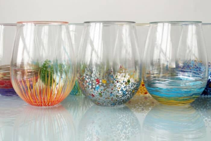 Add a Pop of Color to Your Glassware by Brit + Co