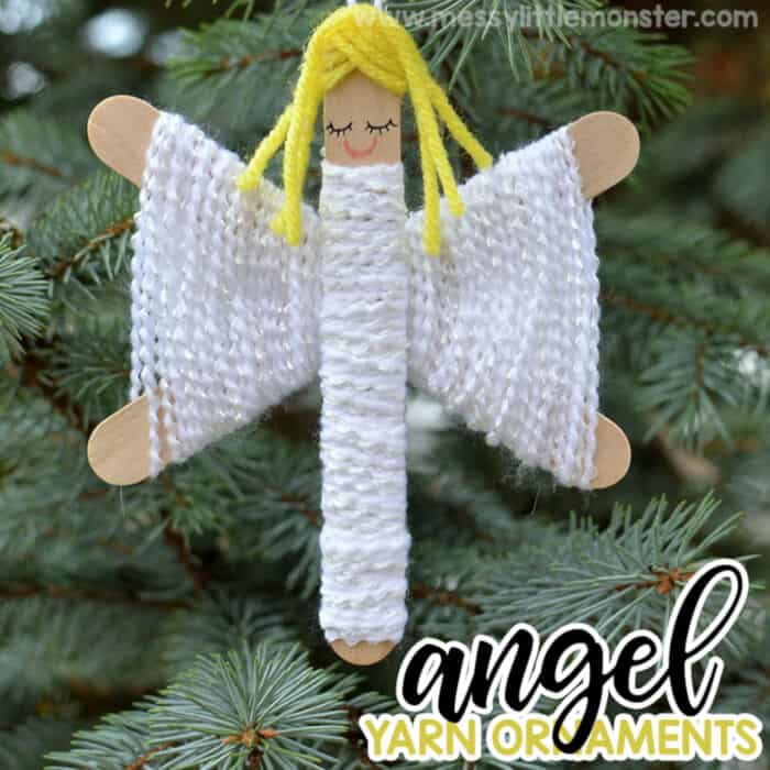 Angel Yarn Ornaments by Messy Little Monster