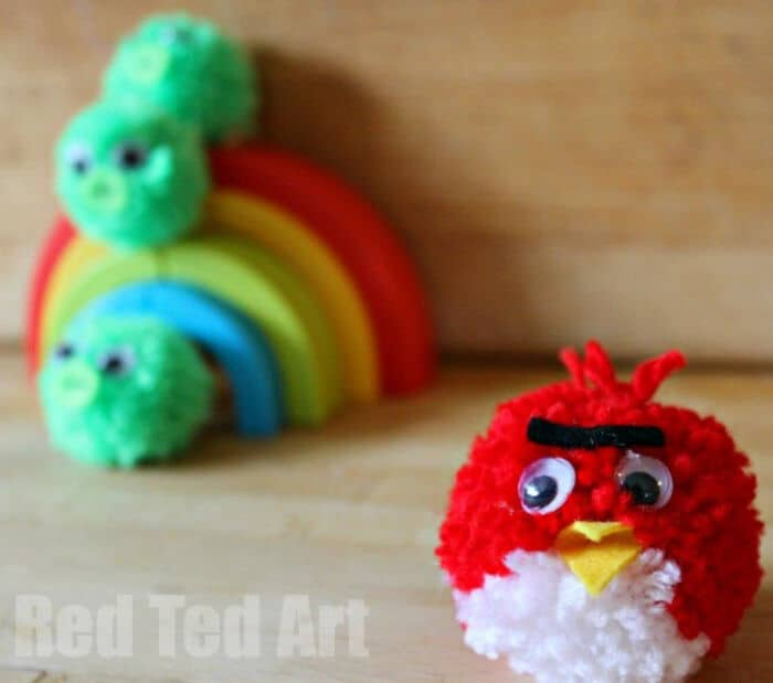 Angry Birds Pom Poms by Red Ted Art