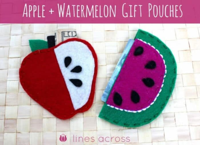Apple And Watermelon Gift Pouches by Lines Across