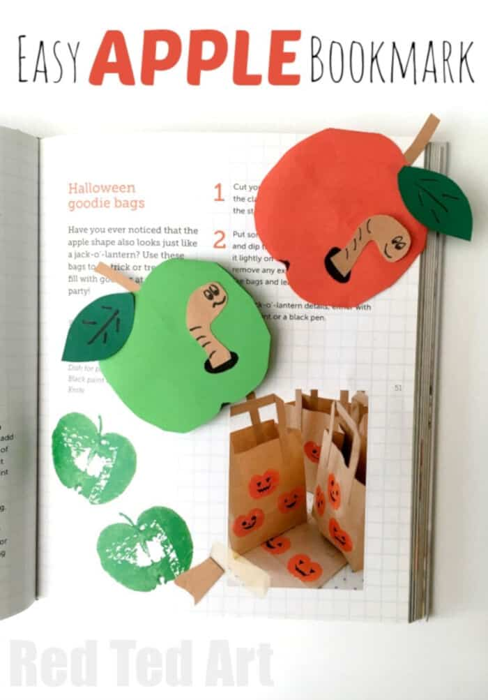 Apple Bookmark Corner by Red Ted Art