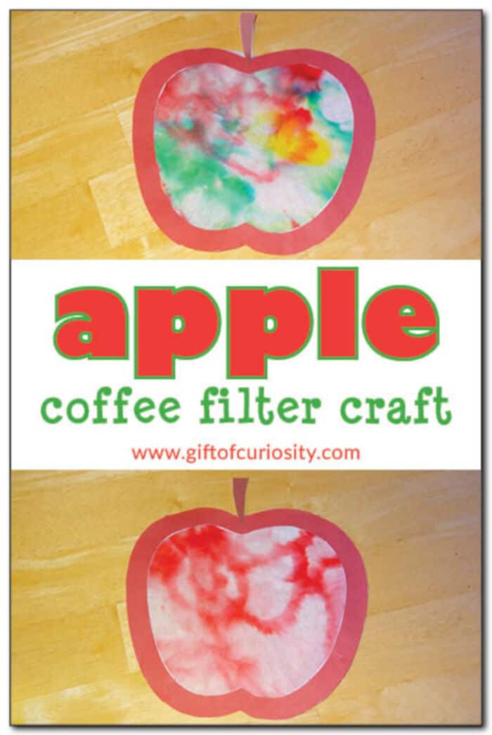 Apple Coffee Filter Craft by Gift of Curiosity