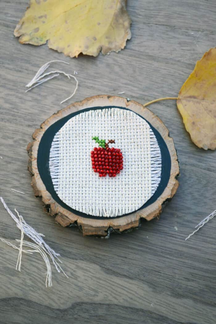 Apple Cross-Stitch Pattern by Storypiece