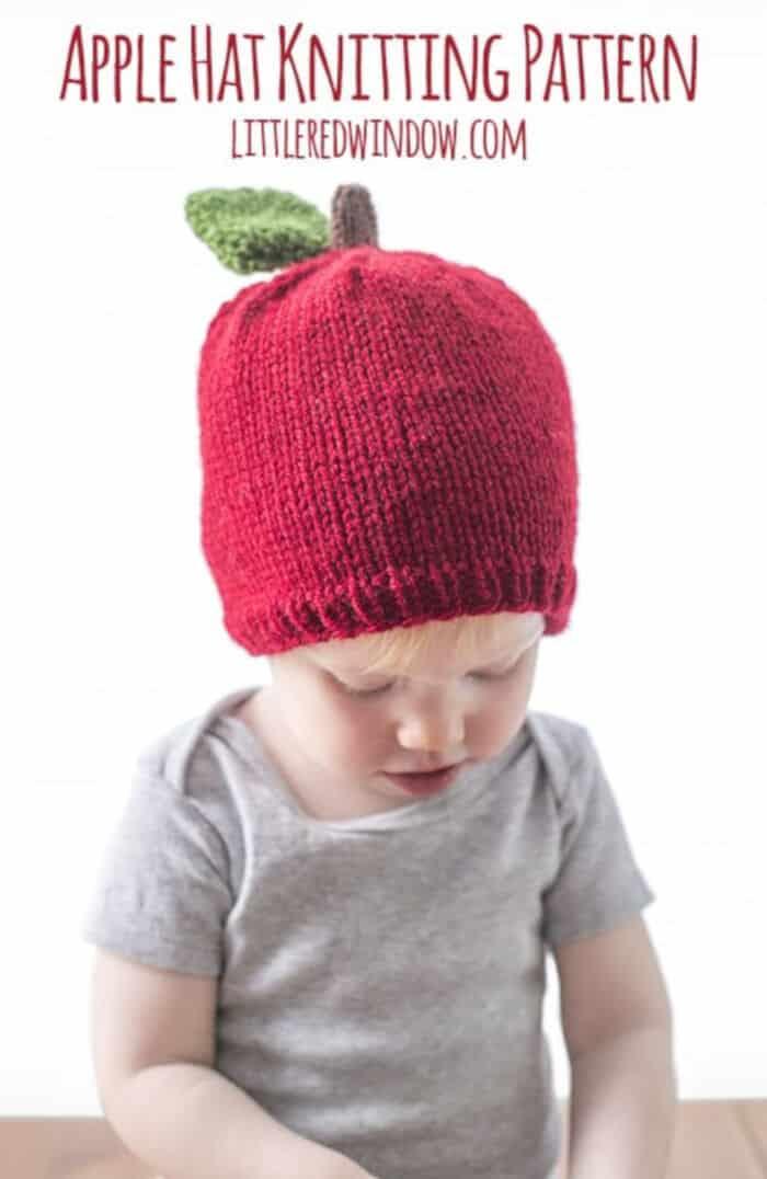 Apple Hat Knitting Pattern by Little Red Window