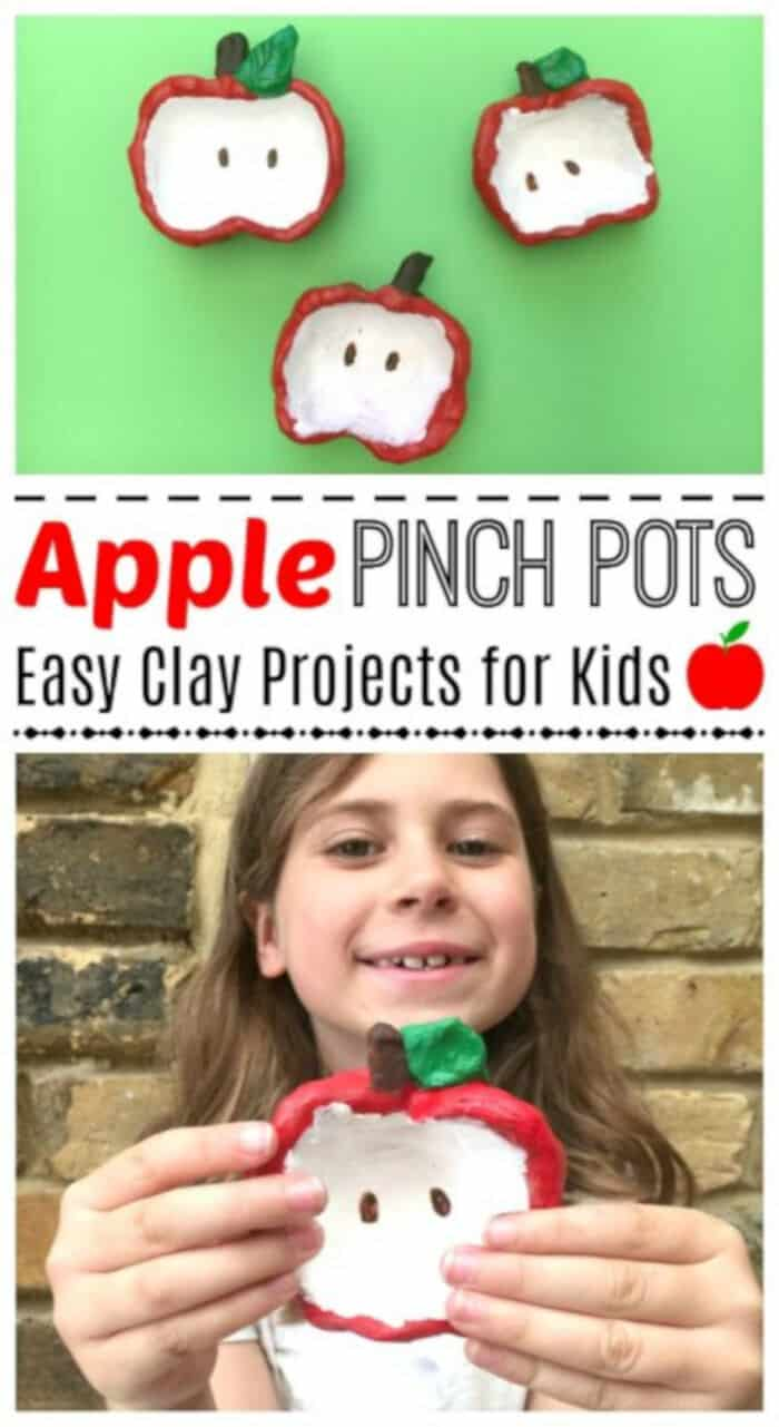 Apple Pinch Pots for Kids by Red Ted Art