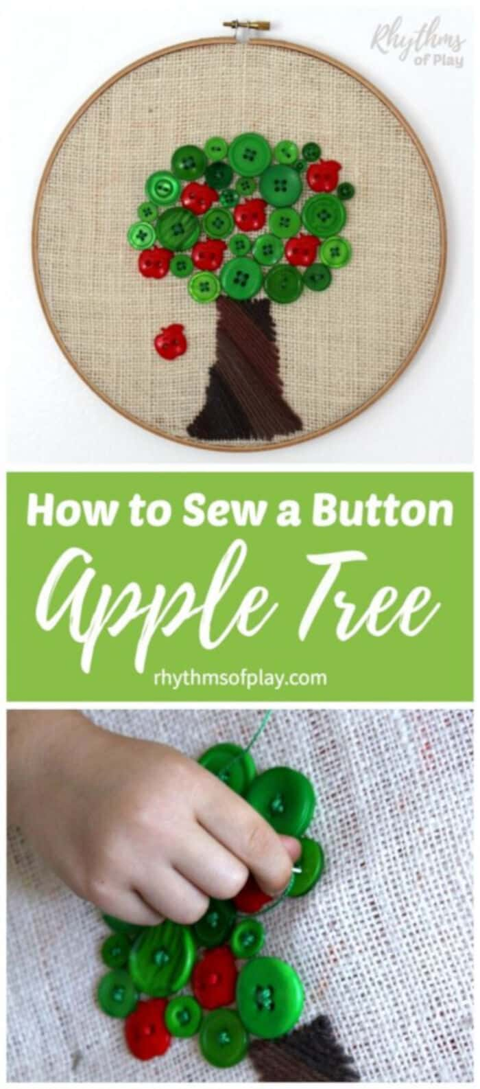 Apple Tree Beginning Sewing Project by Rythms of Play