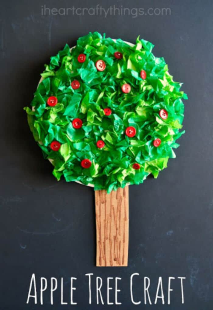 Apple Tree Kids Craft by I Heart Crafty Things