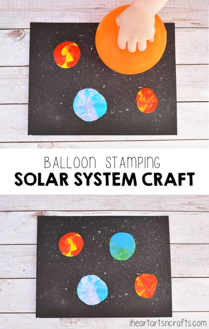 Balloon Stamping Solar System Craft by I Heart Arts n Crafts