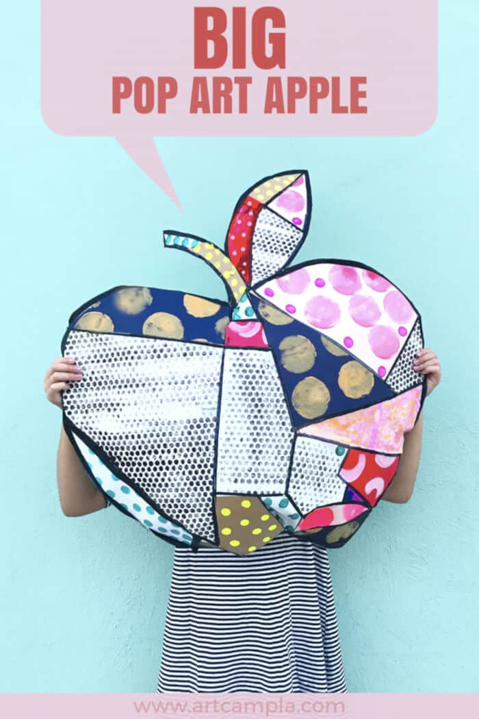 Big Pop Art Apple by ART CAMP