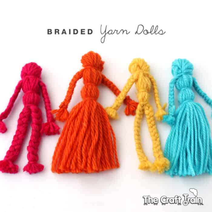 Braided Yarn Dolls by The Craft Train