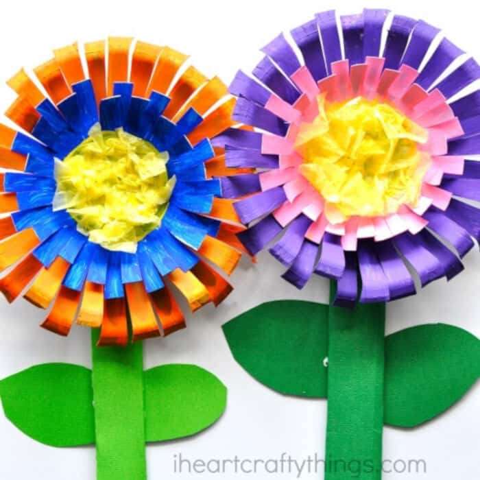Bright and Colorful Flower Craft for Kids by I Heart Crafty Things