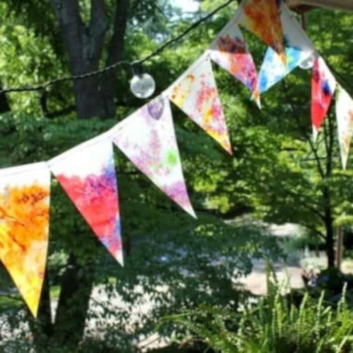 Bunting Stained Glass by Artful Parent