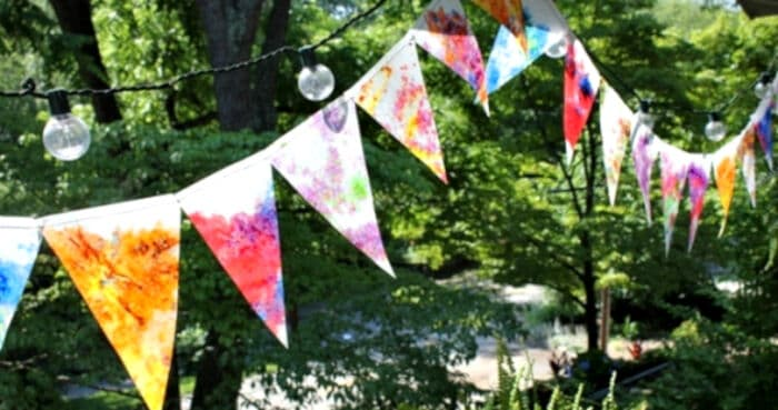 Bunting Stained Glass by The Artful Parent