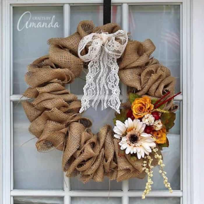 Burlap Wreath by Crafts by Amanda