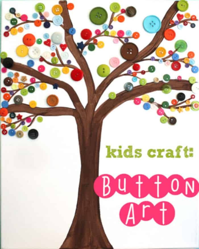 Button Art Tree by Simply Designing