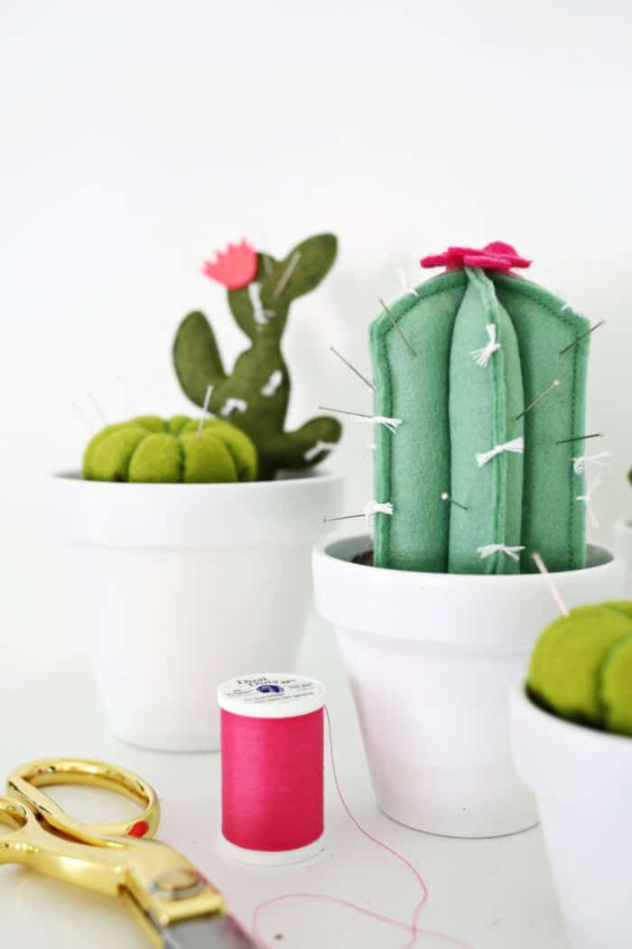 Cactus Pincushion DIY by A Beautiful Mess