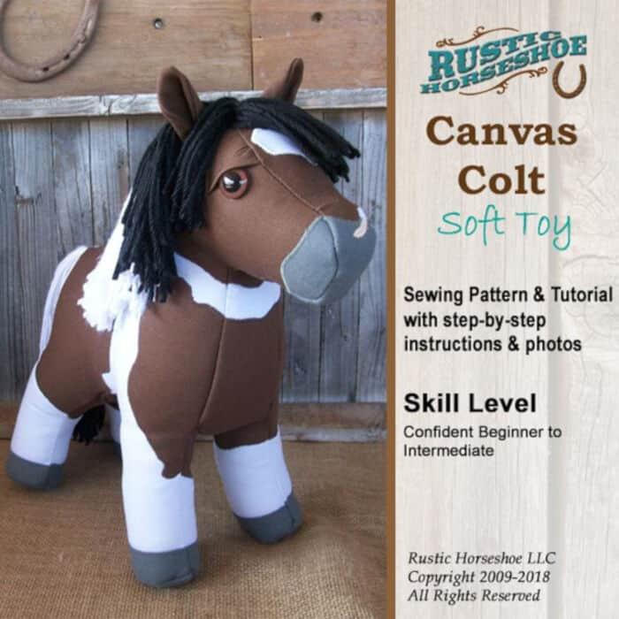Canvas Colt Plush Horse Pony Softie by Bluprint