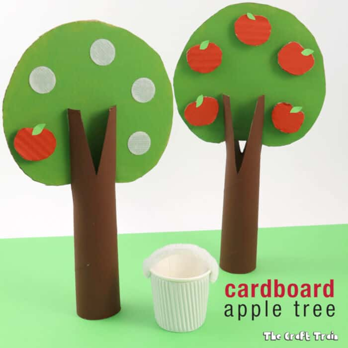Cardboard Apple Tree Craft by The Craft Train