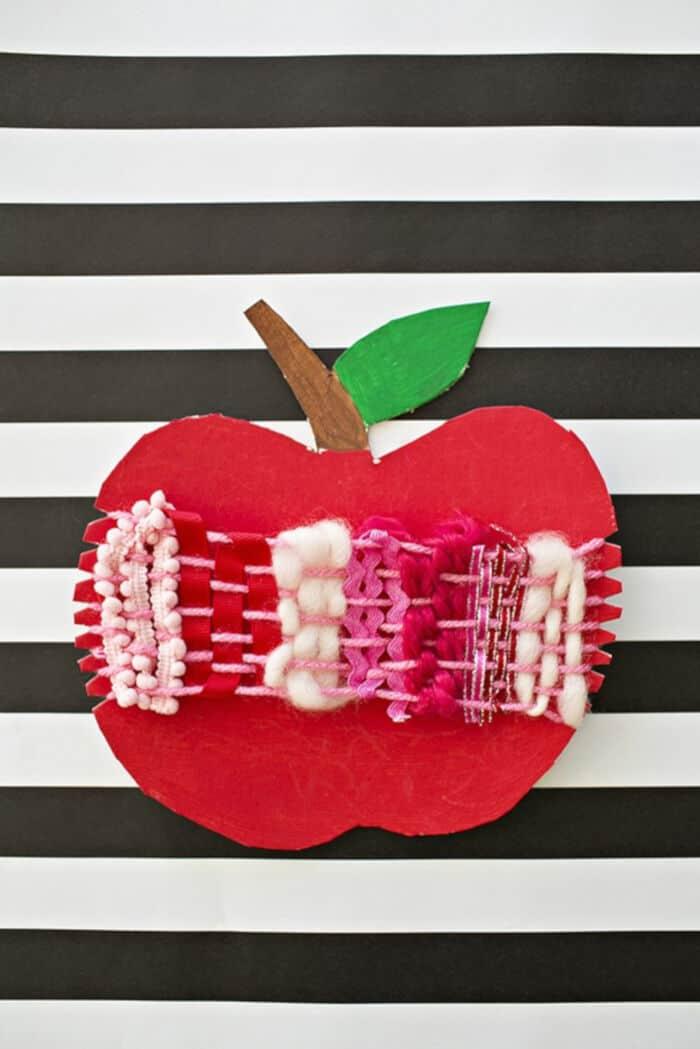 Cardboard Apple Weaving Craft by Hello, Wonderful