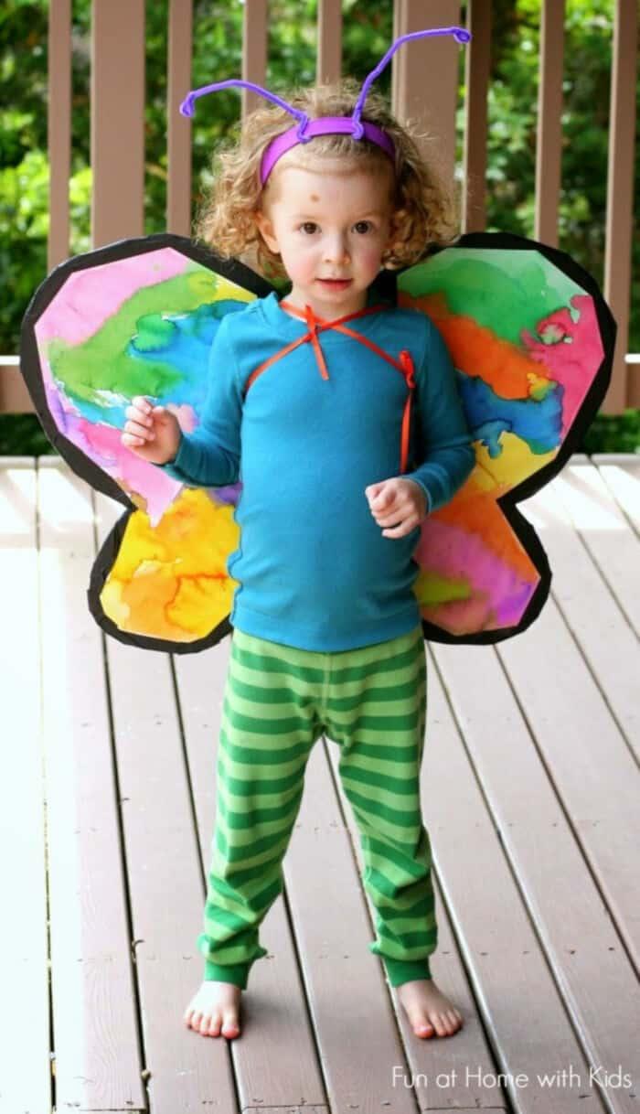 Cardboard Butterfly Wings by Fun Crafts Kids