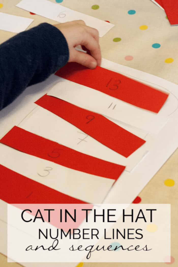 Cat in the Hat Number Lines and Sequence Hats by Rainy Day Mum