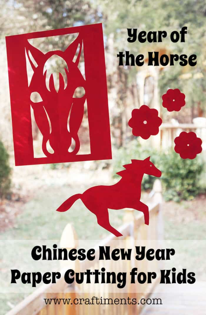 Chinese New Year Paper Cutting for Kids by Craftiments