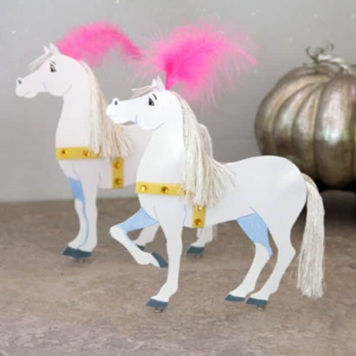 Cinderellas Magical Paper Coach Horses by Disney Family