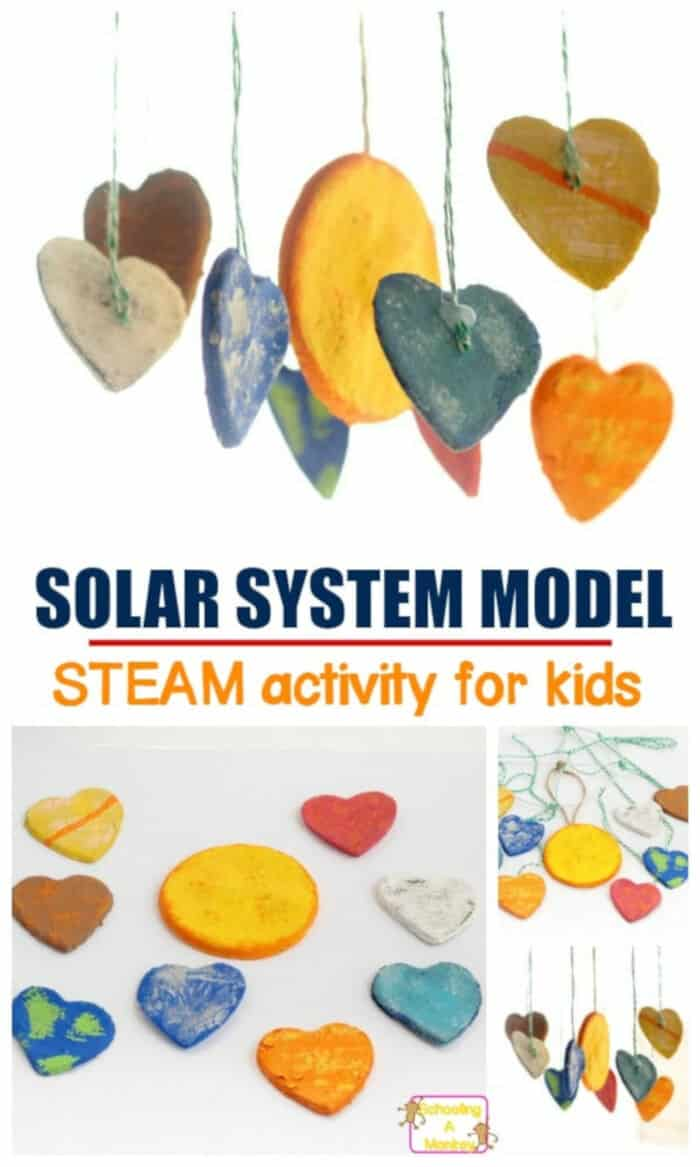 Clay Hearts Solar System Project by Schooling Active Monkeys