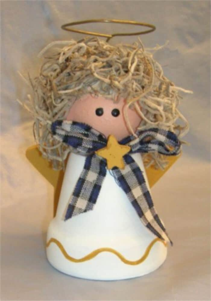 Clay Pot Angel for Christmas by Freecraftz