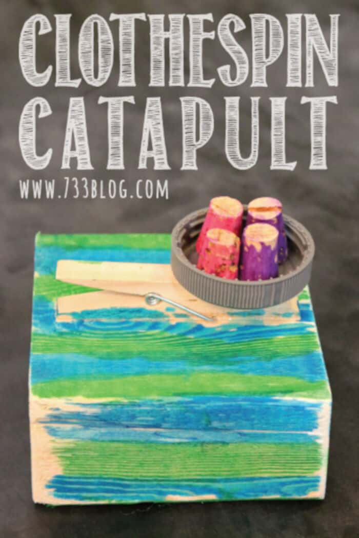 Clothespin Catapult by Inspiration Made Simple