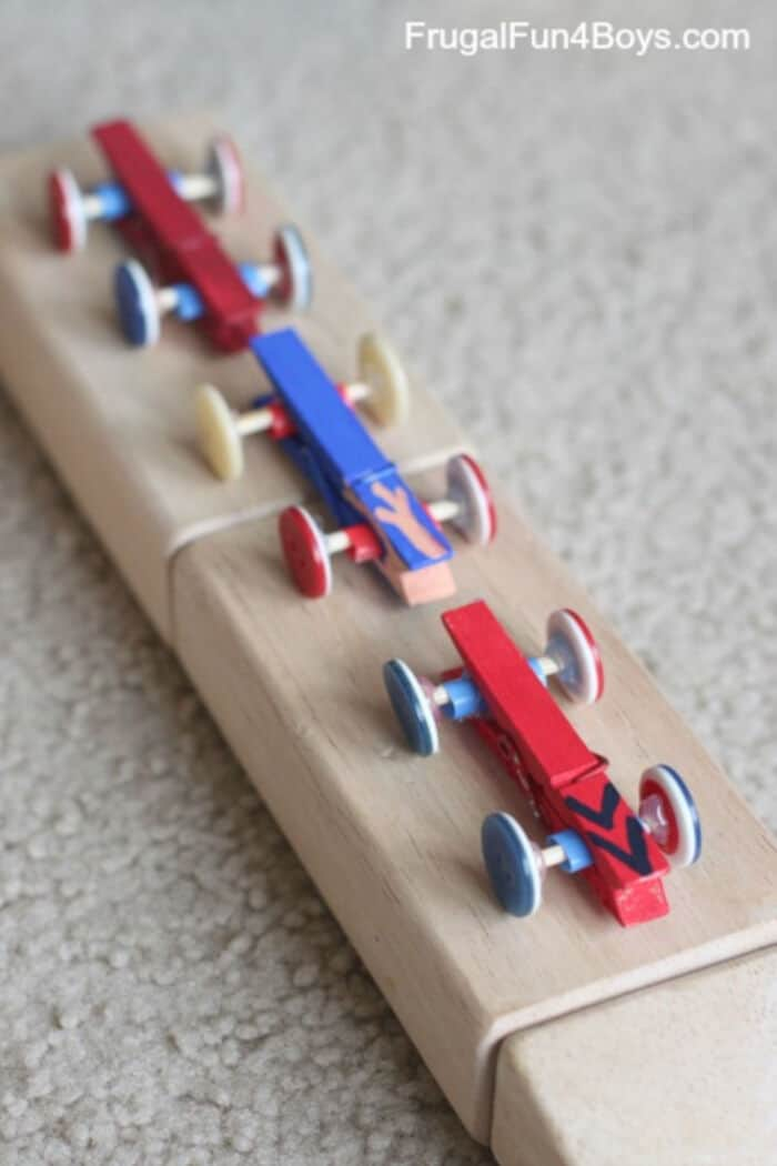Clothespin and Button Car Craft for Kids by Frugal Fun for Boys and Girls