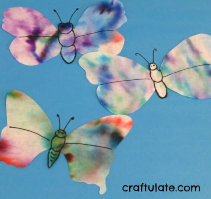 Coffee Filter Paper Flowers and Butterflies by Craftulate