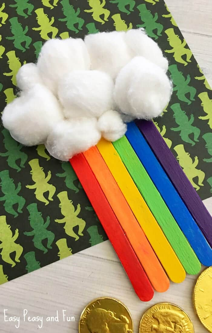 Craft Stick Rainbow Craft by Easy Peasy and Fun