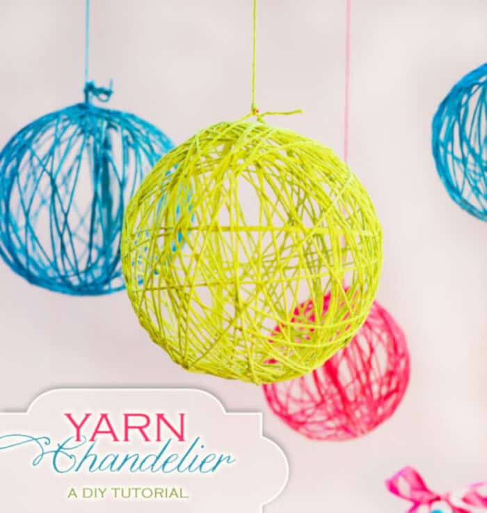 Creative Yarn Chandelier by Hostess with the Mostess