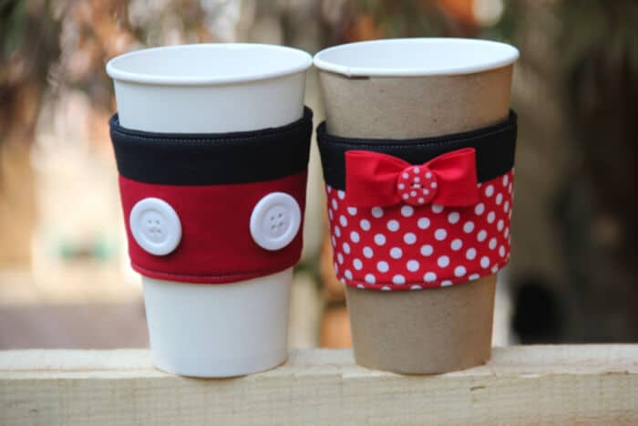 Cutest Mickey and Minnie Coffee Cup Sleeves by Undercover Tourist