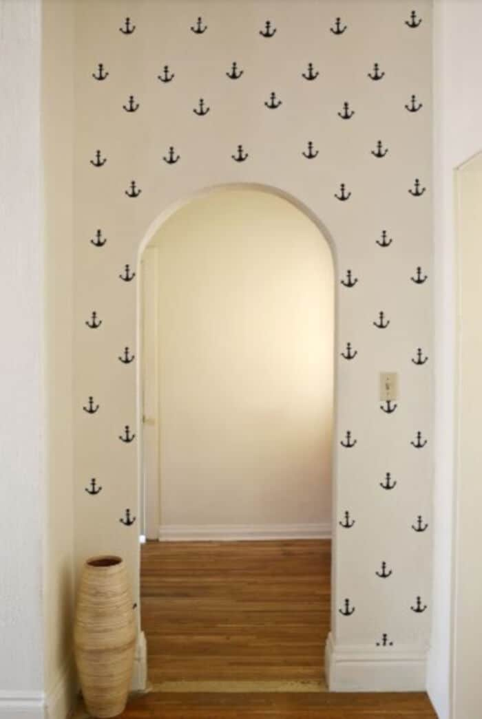 DIY Anchor Statement Wall by A Beautiful Mess