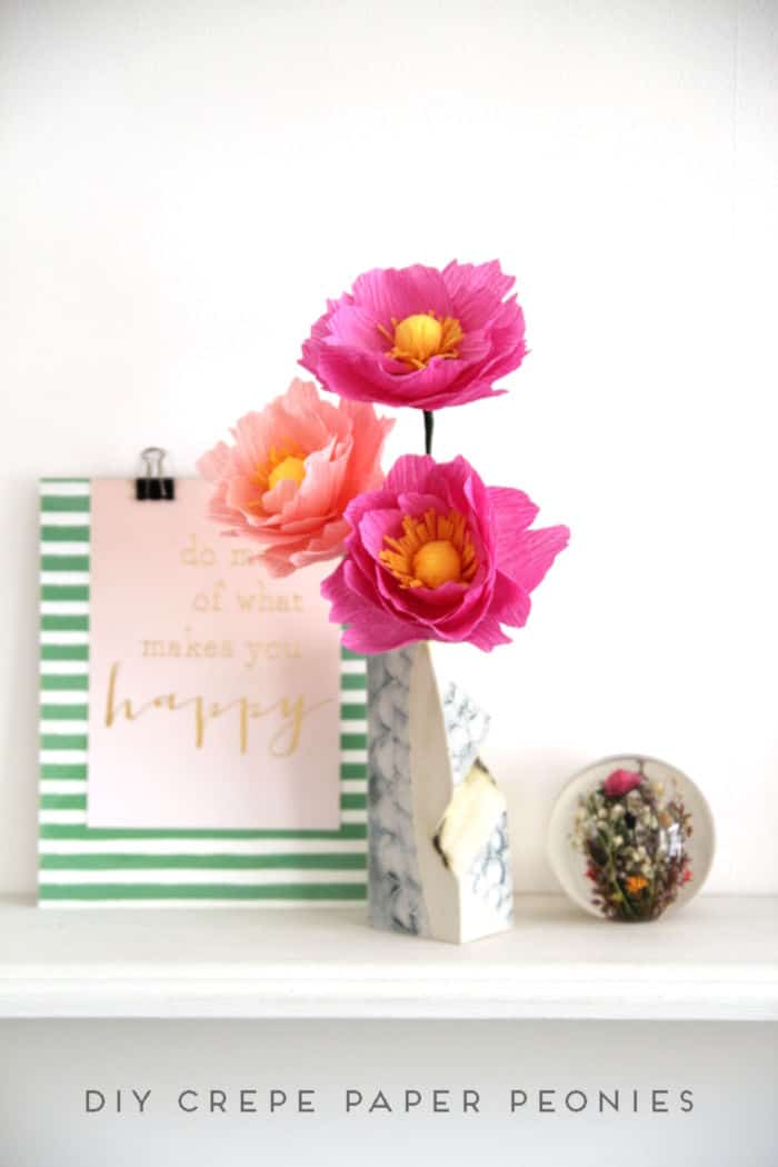 DIY Crepe Paper Peonies by Gathering Beauty