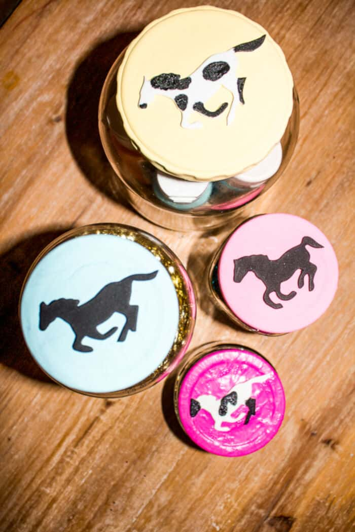 DIY Decorative Painted Lids by Horses and Heels