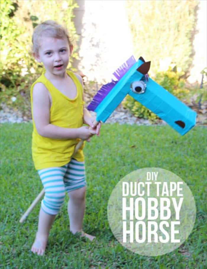 DIY Duct Tape Hobby Horse by 101 Duct Tape Crafts