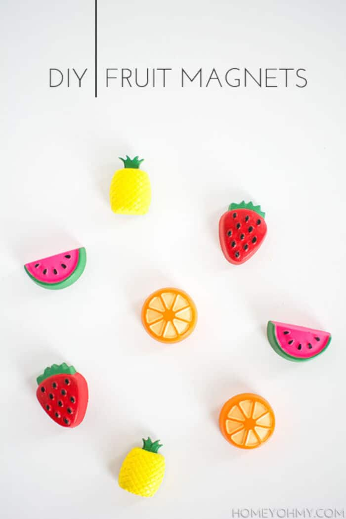 DIY Fruit Magnets by Homey Oh My