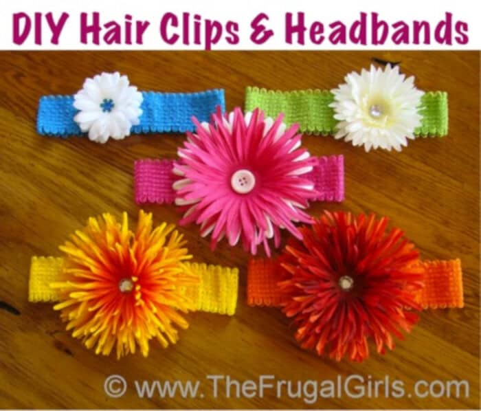 DIY Hair Clips and Headbands by The Frugal Girls