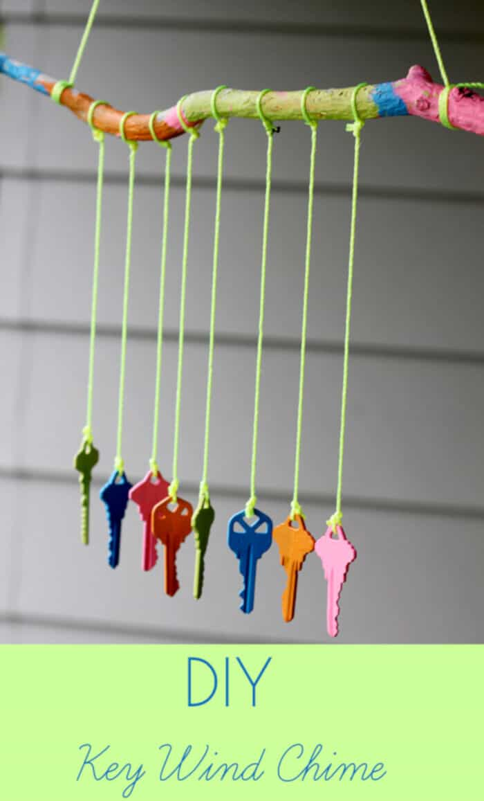 DIY Key Wind Chime by Inner Child Fun
