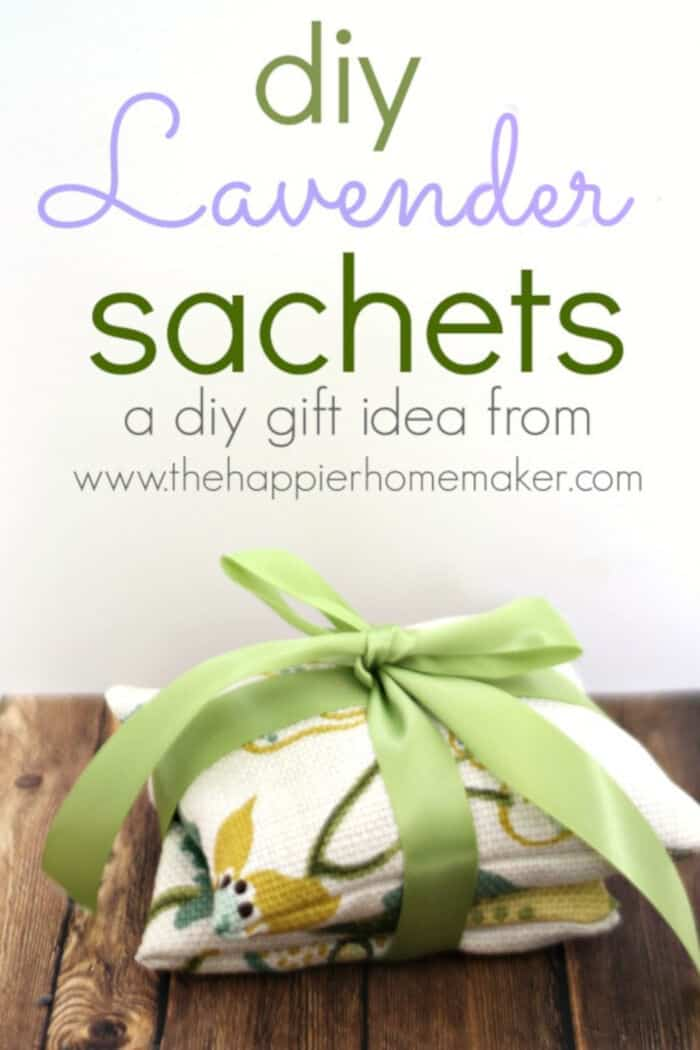 DIY Lavender Sachets by The Happier Homemaker