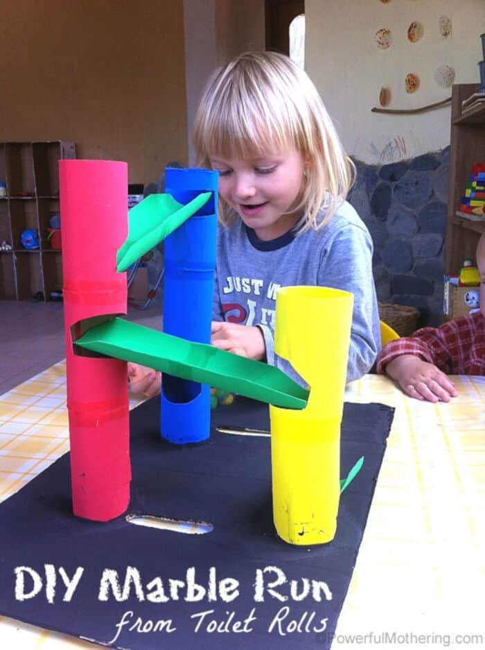 DIY Marble Run from Toilet Rolls by Powerful Mothering